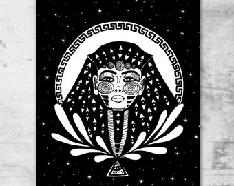 The All-seeing Eye A4 print - cosmic art - gift - wall decor