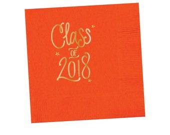 Graduation Napkins | ORANGE & GOLD (in-stock)