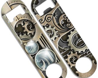 Steampunk - Skinny Mini Bottle Opener