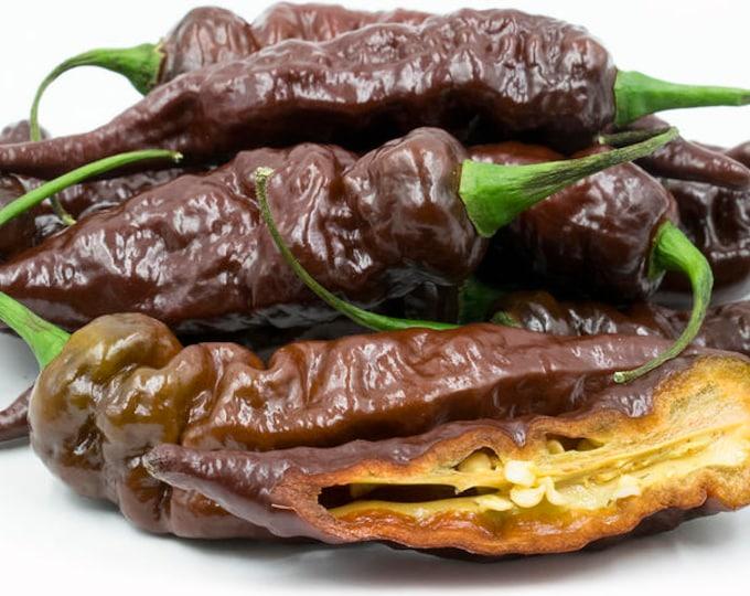 RARE Chocolate Ghost  (Bhut Jolokia) Pepper Seeds - Summer 2017 Crop  ORGANICALLY GROWN
