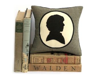 Moderne Sherlock Holmes pied de poule ombre Silhouette étagère oreiller