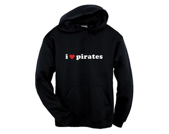 Unisex Hoodie - I Heart Pirates 2