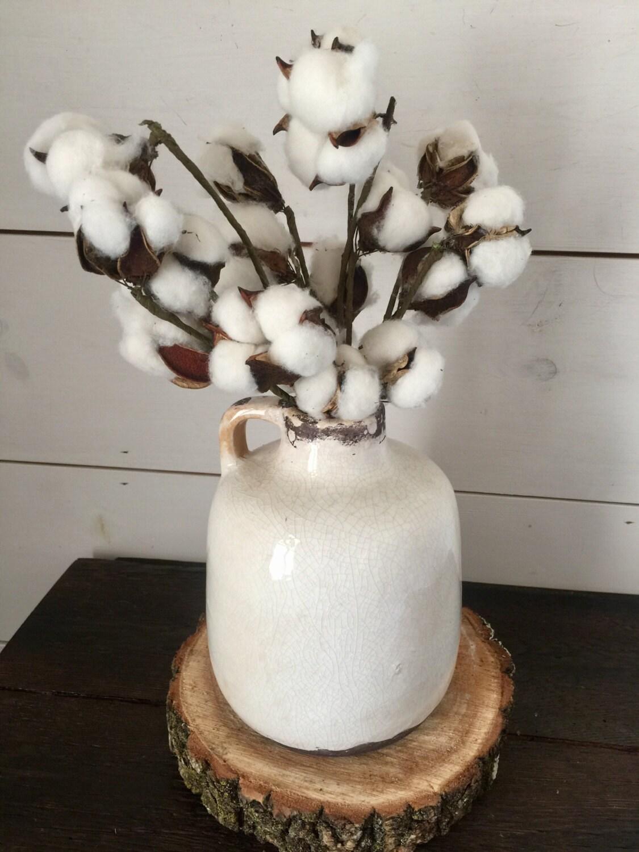 Cotton arrangement cotton farmhouse decor rustic decor zoom reviewsmspy