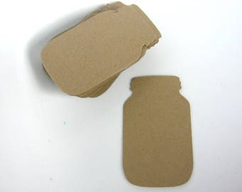 Cut Outs Kraft Brown Mason Jar Die Cut 1 3/8 x 2 3/8 Inch Scrapbooking