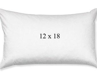 12 x 18 Pillow Insert, 100% Poly Fiberfill Pillow Insert, 12x18 Lumbar Pillow Form, Hypoallergenic Pillow Form, Lumbar Pillow Cover Insert