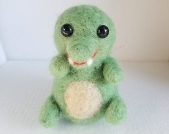 MADE TO ORDER - Needle Felted Alligator, Crocodile, Needle Felt Animal, Wool Crocodile, Wool Alligator, Soft Sculpture