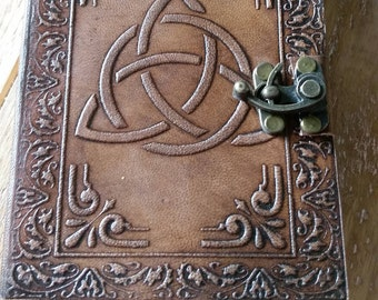 Leather  bound Journal Diary Grimoire notebook
