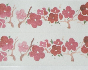 Design Washi tape red flowers wide