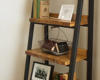 Modern Industrial Metal And Wood Bookcase (Modern Industrial Metal And Wood  Bookshelf)