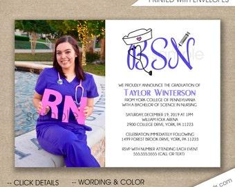 Nurse invitations Etsy