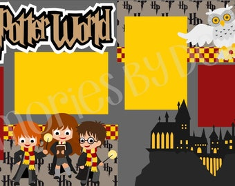 Scrapbook Page Kit Harry Potter World Premade Scrapbook Pages 2-page 12X12 Scrapbook Page Kit or Premade Layout