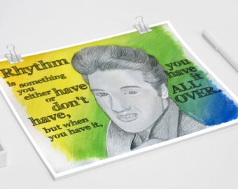 Elvis Presley Wall Art Quote Poster / Print