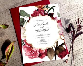 Boho wedding invite