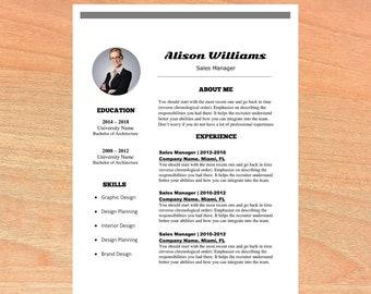 Resume template, teacher resume, cv template, professional resume, cover letter, modern resume, creative resume, resume download, cv design