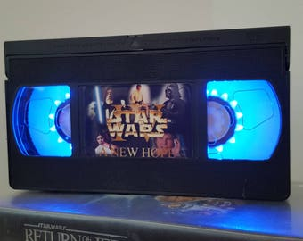Retro VHS Lamp Star Wars A New Hope Night Light Table Lamp Movie. Order any movie! Great personal gift. Man Cave. Mothers Day Mothers Day