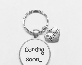 Coming Soon Mother Gift Mom To Be Baby Shower Keychain