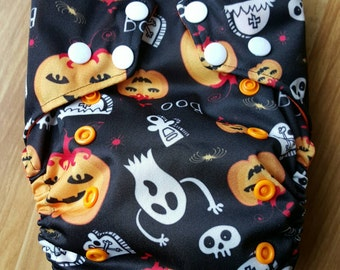 Halloween One Size Cloth Pocket Diaper with Insert