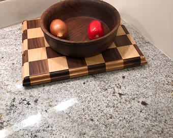 Maple & Walnut Checker Cutting Board