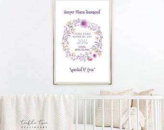Art Print - Birth Poster, Wild Flower (W00020)