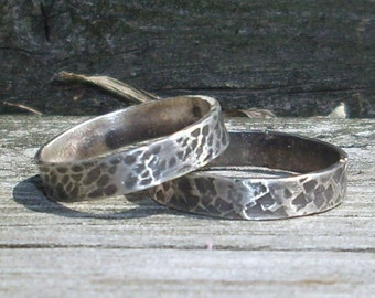 One- Sterling Silver Wedding  Ring Thumb Ring Everyday Ring