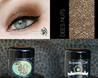 Golden Brown Eye Shadow  - Vegan - Scaredy Cat - DEE'S NUTS - 5 Gram Sifter