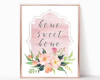 Home Sweet Home Print Instant Art INSTANT DOWNLOAD Printable Wall Decor