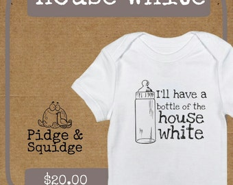 Baby onesie - House white // baby shower gift // infant clothing // newborn // cute baby onesie // crawler // funny