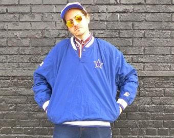 Classic Team NFL Collection 1990s DALLAS COWBOYS Pro Line Starter Jacket V Neck Pullover