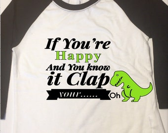 Boys and Virls Tees T-Rex