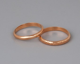 Rose Gold Wedding Band, Womens Wedding Ring, Mans Wedding Band, Stacking Ring, Simple Band Ring, Delicate Ring, Minimalist Ring, Dainty Ring