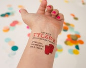 Red Solo Cup Temporary Tattoo, 30th Birthday, If I'm Lost, Buy me a Drink, Personalized Party Favors, Tailgate, Beer Pong or Flip Cup Party