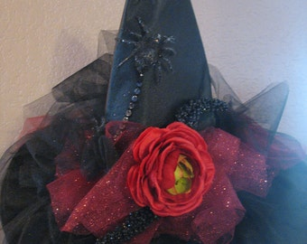 Red Rose Witch Hat