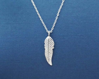 Beautiful, Sterling silver, Bird, Feather, Necklace, Modern, Minimal, Dainty, Jewelry, Birthday, Best friends, Sister, Gift, Jewelry