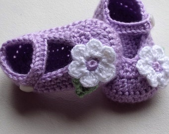 Crochet baby shoes  Baby booties Baby girl shoes Baby sandals Crib Shoes Baby shower gift bootees