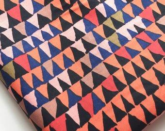 Brandon Mably for Rowan Tents Black Fabric #BM03, OOP, HTF, Rare, Gorgeous Fall Hues