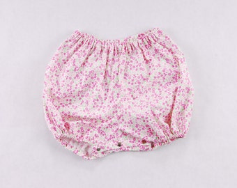 Baby girl bloomers in flower print  pink/ white