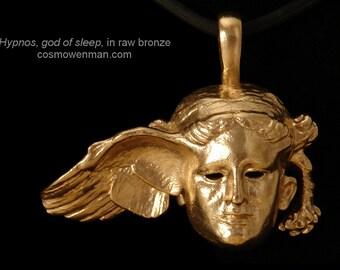 Hypnos, god of sleep, necklace pendant