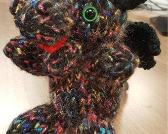 Black and Rainbow Sparkle Dragon