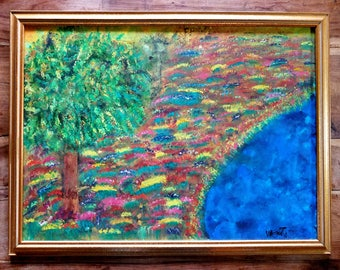 Impressionist Landscape Painting, Signed and Framed, Modern Art,  Impressionist Painting, Landscape Painting, Original Art, Framed Art