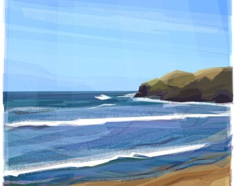 From the Shore ..  mounted giclee print
