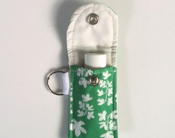 Lip Balm keychain, Keyring, Lip Balm Holder in fresh Green, vegan, sustainable, Spring gift, Mother's day gift, for her under 10 dollars