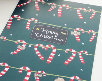 Christmas Candy Canes Card