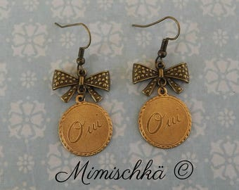 Earrings retro oui