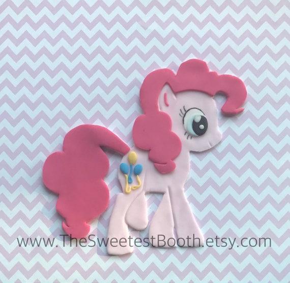 Pinkie Pie Birthday Cake Fondant Topper My Little Pony Cake