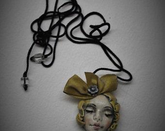 "art pendant ""Maiden dreams"" OOAK"