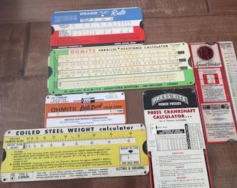 Vintage  Assortment of Paper Calculators