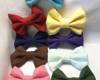 COZY bows! ,fabric hair bow, hair accesories