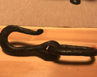 Antique Cast Iron Hook • Home/Commercial Decor • Cleaned Ready to use • Vintage Cast Iron Items • Industrial interior/exterior design