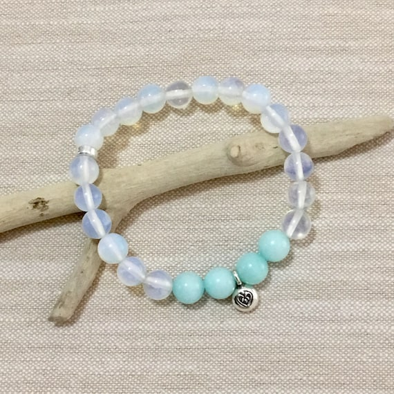 Moonstone bracelet, boho jewelry, gift for her, crystal healing gemstone
