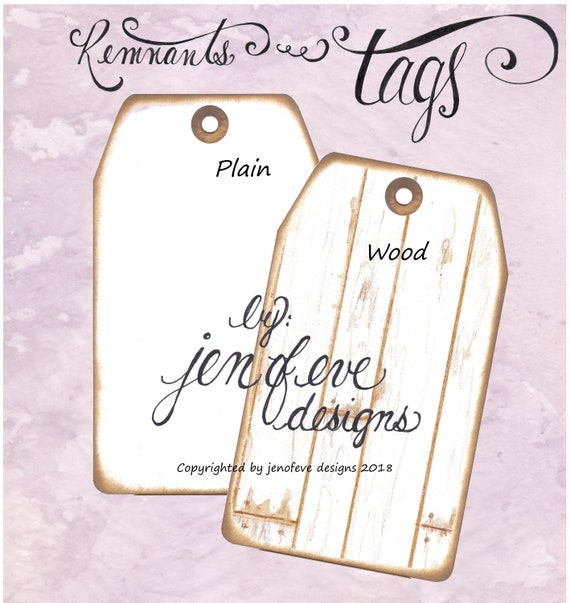Build ~A~ Bellishment Remnants ~ Tags in Wood & Plain